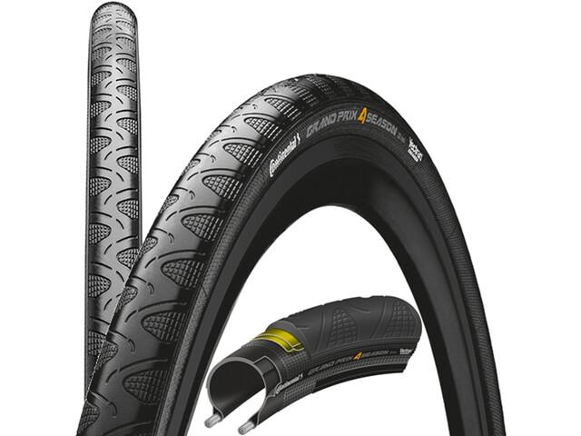 """Continental Grand Prix 4-Season Copertone pieghevole 28"""" DuraSkin Black Edition, nero"""